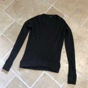 Lululemon Knit Pullover Sweater Dark Gray